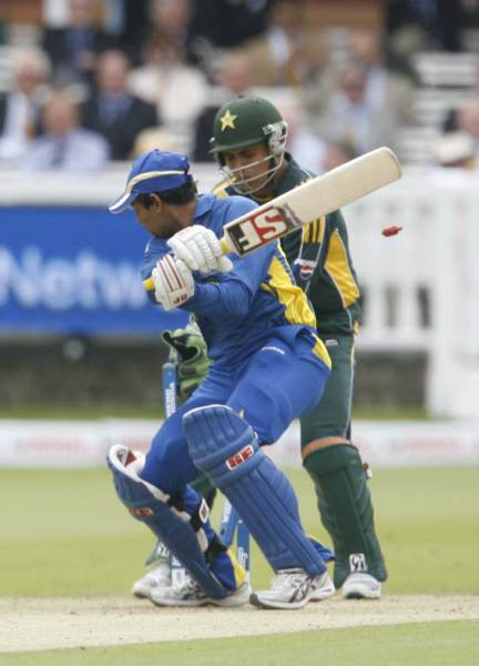 Dilshan bowled for 46