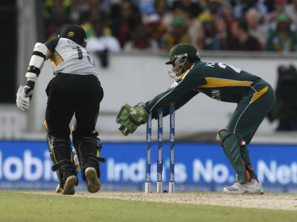A run-out attempt foiled