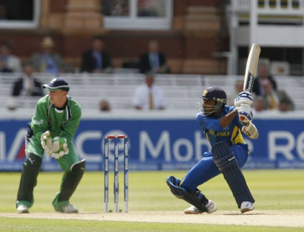 Jayawardene playing a shot