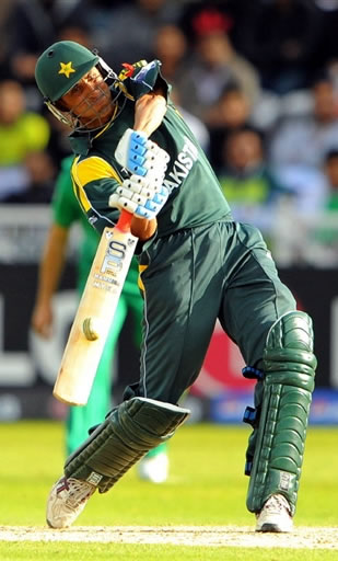 Younis Khan plays a shot