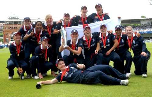 England Women's team, winners of ICC Women's World Twenty20 2009
