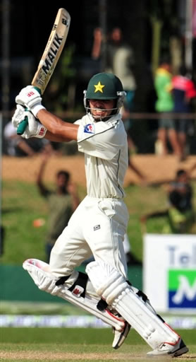 Fawad Alam plays a cut shot