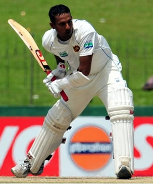 Samaraweera plays a shot