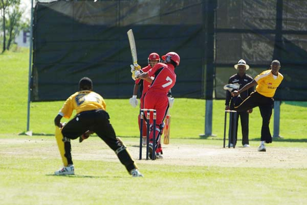 Usman Limbada strikes a boundary for Canada