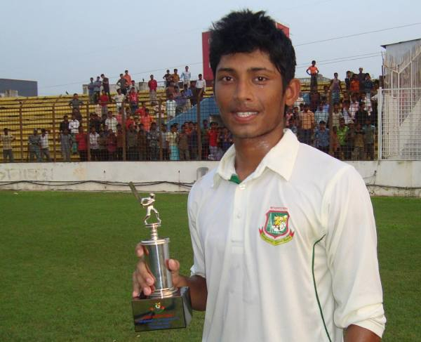 Man of the match Anamul Haque of Bangladesh Under 19