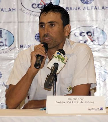 Pakistan Captain Younis Khan during press conference