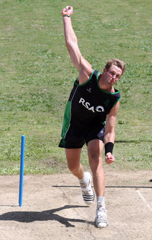 Boyd Rankin in the nets