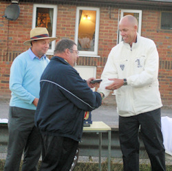 Umpire Billy Taylor receives Medal