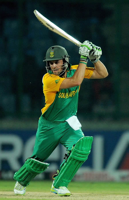 AB de Villiers plays a cover drive