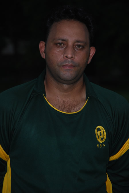 Wasim Khan in NBP kit