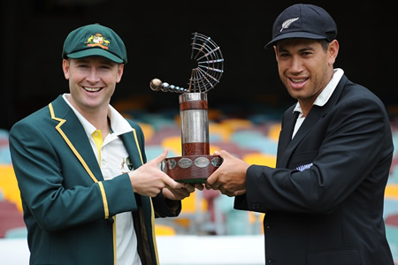 Michael Clarke and Ross Taylor ahead of the Test series