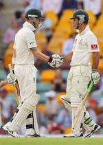 Michael Clarke and Ricky Ponting steadied Australia