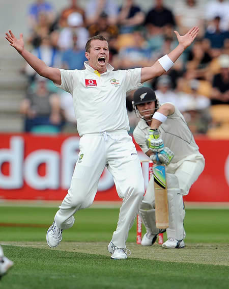 Peter Siddle appeals vociferously