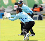 Kaushal Silva prepares for the first Test