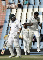 Angelo Mathews had Ashwell Prince caught behind