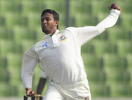 Shakib Al Hasan was the first Bangladesh player to take a five-for and score a ton in a Test