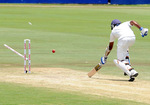 Mahela Jayawardene couldn't beat a direct hit