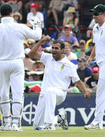 Imran Tahir enjoyed his wicket of Kaushal Silva