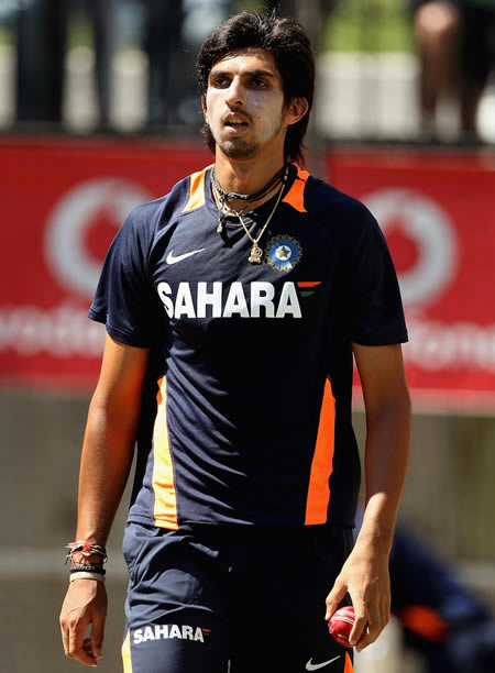 Ishant Sharma, whose ankle is a concern, bowled in the nets
