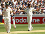 Zaheer Khan got rid of Brad Haddin early on day two