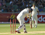 Rahul Dravid was bowled by Peter Siddle off a no ball
