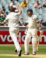 Peter Siddle had VVS Laxman caught behind cheaply