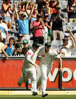 David Warner took the catch that sealed the Test for Australia