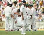 Virat Kohli was dismissed for 44