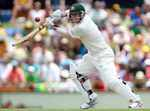 David Warner drives during his innings of 180