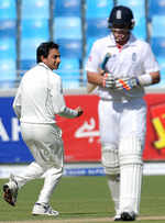 Ian Bell becomes Saeed Ajmal's third victim