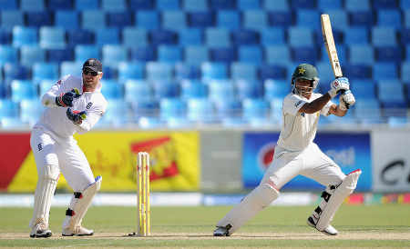 Mohammad Hafeez was largely untroubled