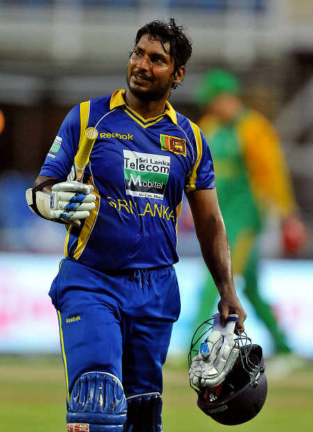 Kumar Sangakkara works it to the on side