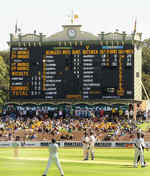 The old scoreboard at the Adelaide Oval