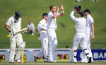 England celebrate Stuart Broad removing Azhar Ali