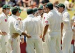 Nathan Lyon picked up Virender Sehwag's wicket