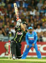 David Warner was caught after a quick 25