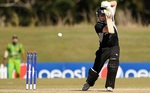 New Zealand batsman plays the cover drive