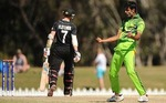 Ehsan Adil celebrates after dismissing Fletcher