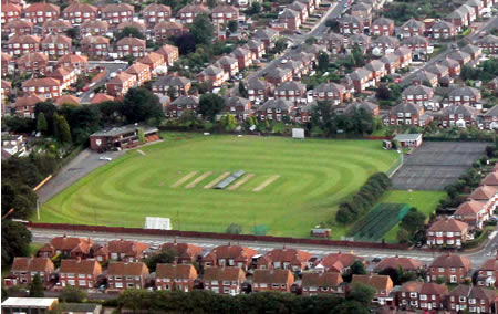Aerial view of Denton Bank, Benwell Hill