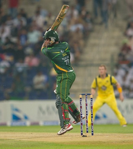 Nasir Jamshed was just 3 runs short of a century