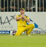 David Warner takes Misbah-ul-Haq's catch