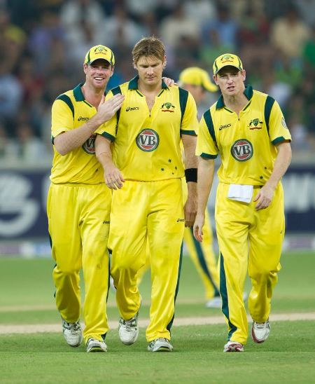 Shane Watson took the wicket of Mohammad Hafeez