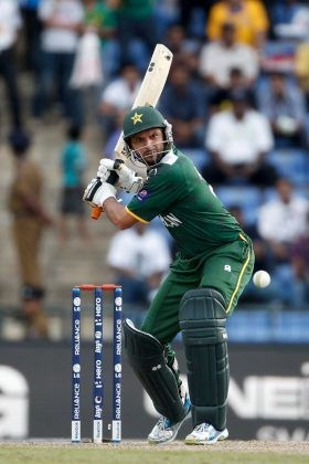 Shahid Afridi made 12 runs