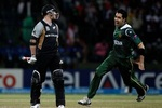 Umar Gul was ecstatic after dismissing Brendan McCullum