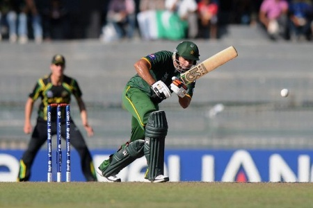 Nasir Jamshed steadied Pakistan's innings by scoring 55 runs