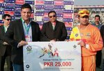 Ahmed Shehzad's century in the 1st semi-final got him the Man of the Match Award