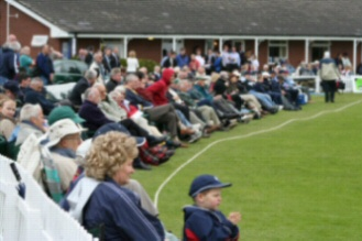 Large crowd at Whitchurch CC