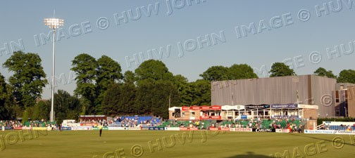 The lights come on at the start of Worcestershire`s innings