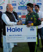 Ahmed Shehzad was the Man of the Match