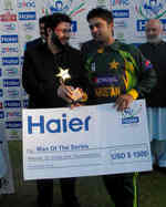 Ahmed Shehzad was the Man of the Series